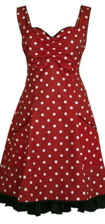 rød retro kjole
