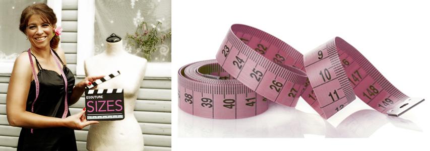 Størrelser på en Ecouture kjole