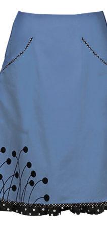 Sonja lyseblå nederdel