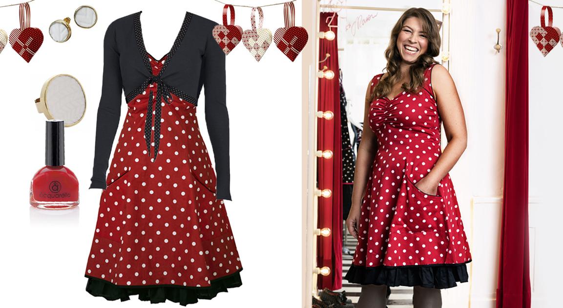 40406964593c ... på kjolen og giver associationer til snefnug samt en rød