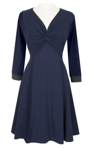 Twist dress - Blue - A nice everyday dress made from Eco cotton