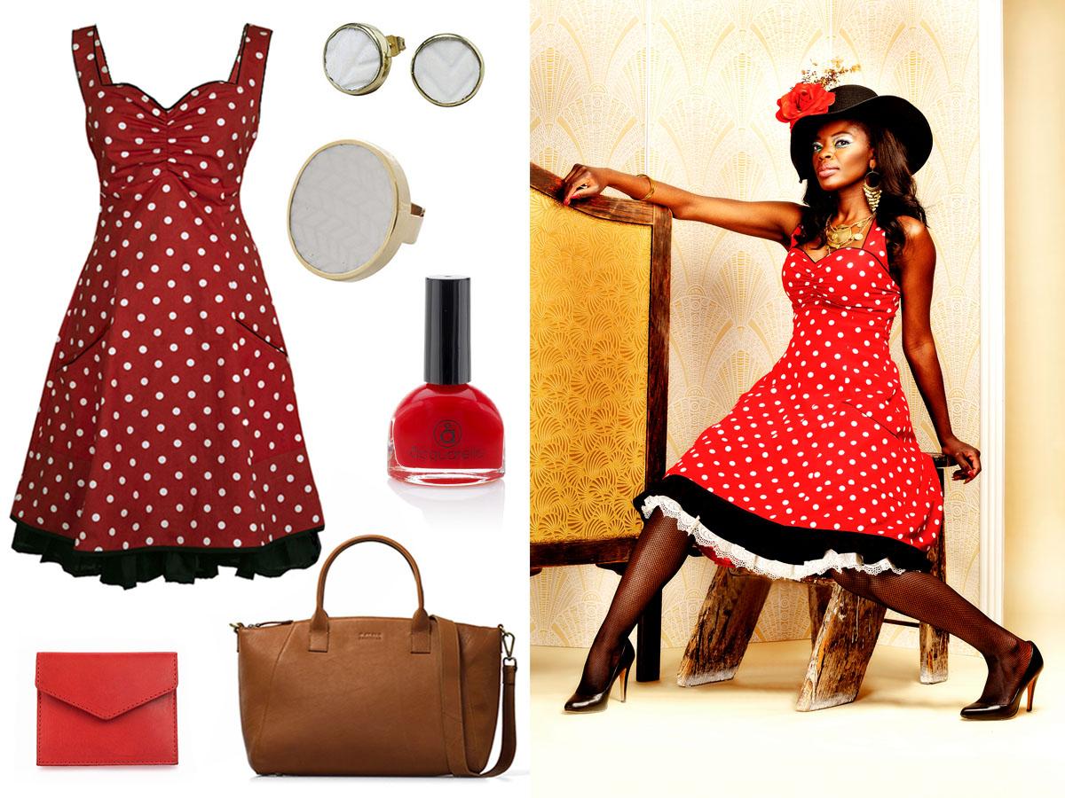 rød festkjole