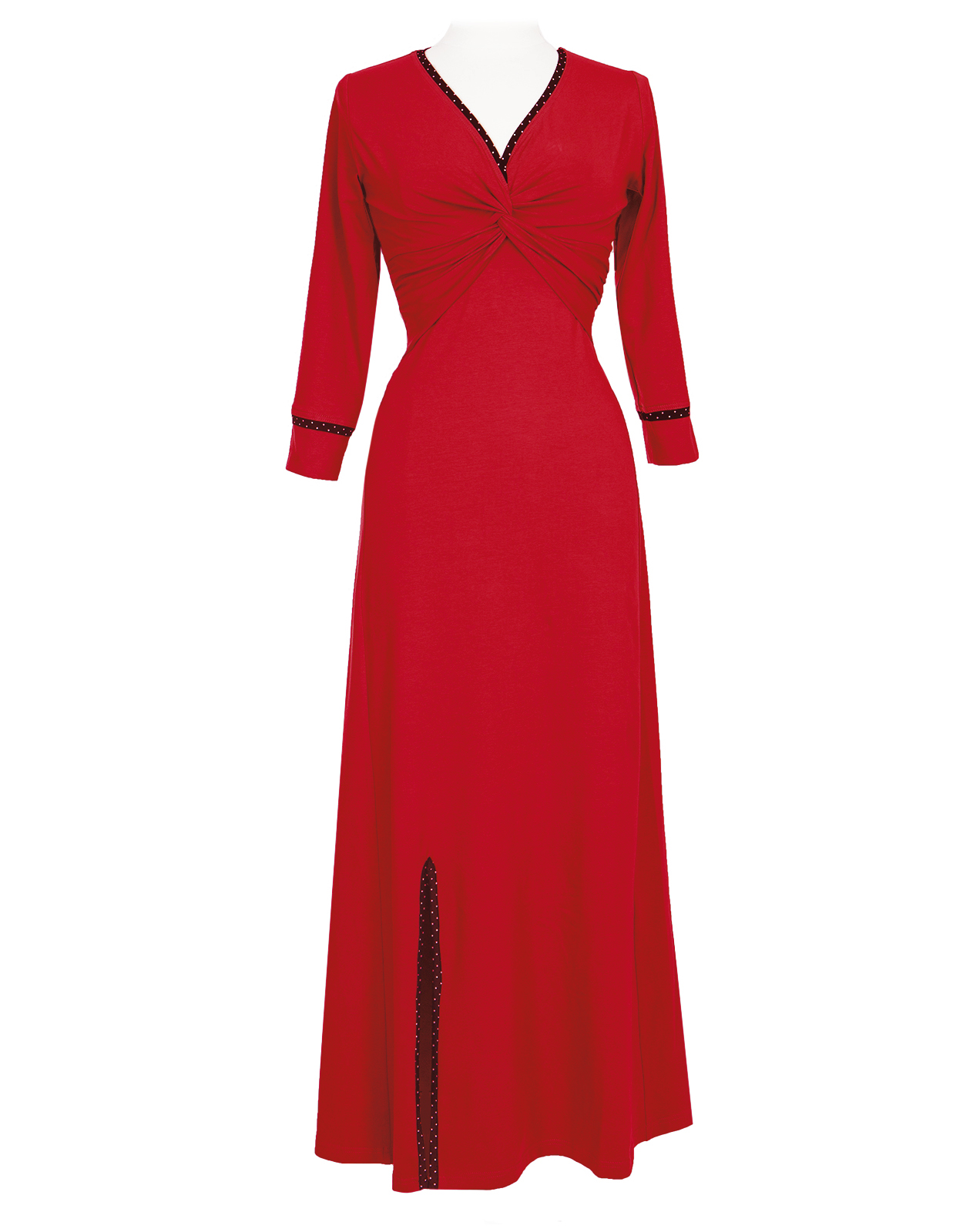 rød kjole lang